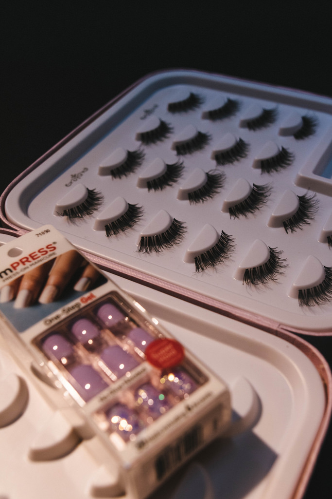 Impress Manicure  Limited Edition Set  in Lavender Broken Glass - Kiss Me Quick. A whole bunch of Ardell Lashes Demi Wispies.