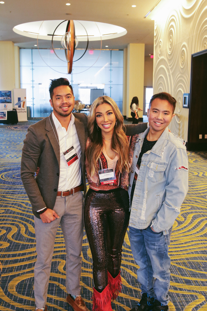 "With my fellow panelists and friends, Danny ""Atomic Goofball "" Nguyen and Garrett Taira at the Renaissance Arlington Hotel for the 2019 AASLE Conference."