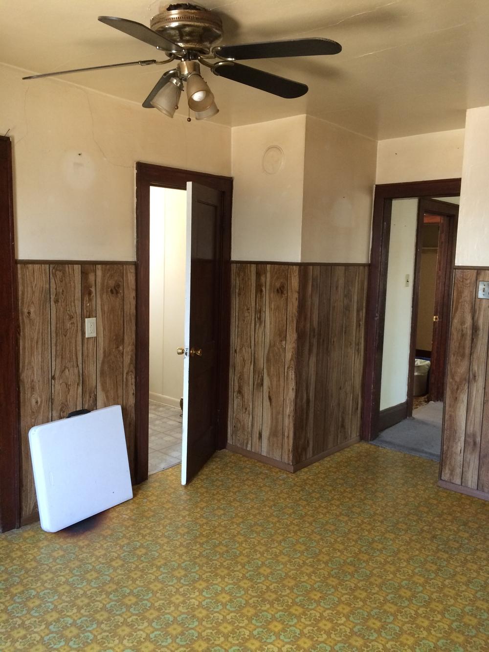 kitchen. bathroom door.