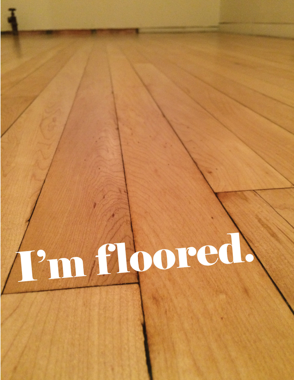 completed hard wood floors