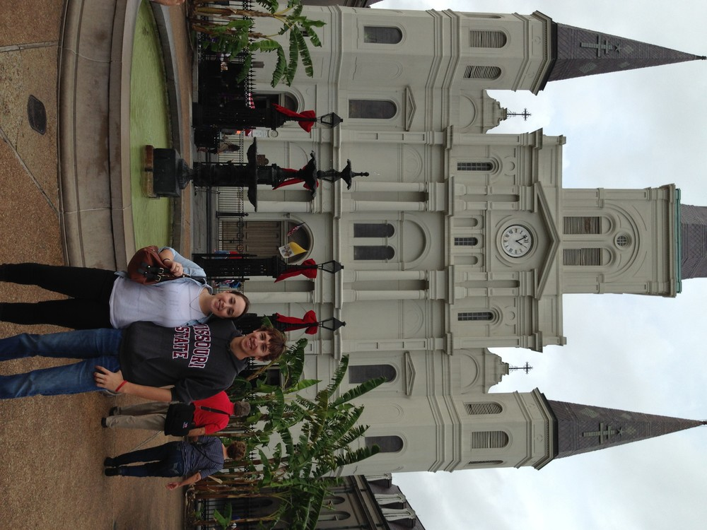 St. Louis Cathedral and siblings.