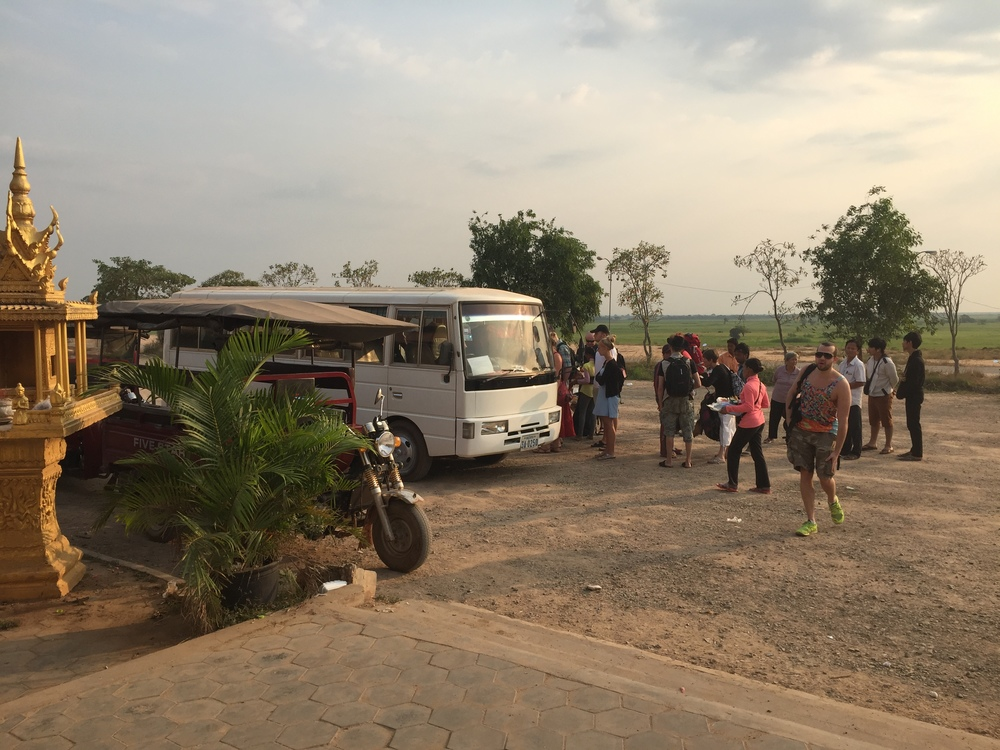 The over-full bus from Siem Reap to the boat.