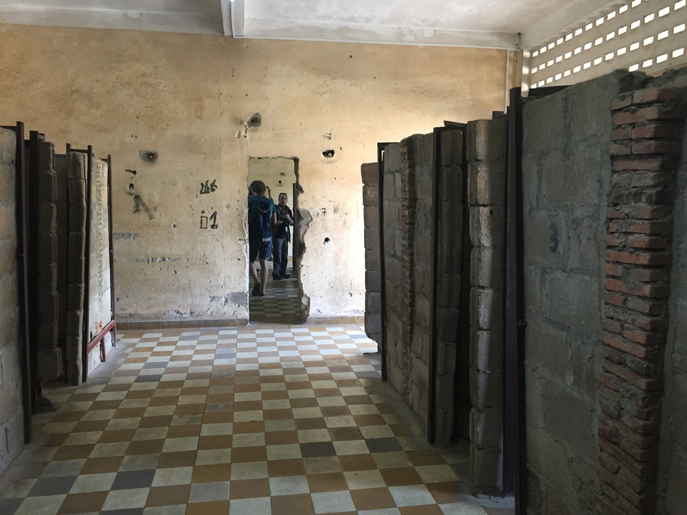 The cells where people were shackled.