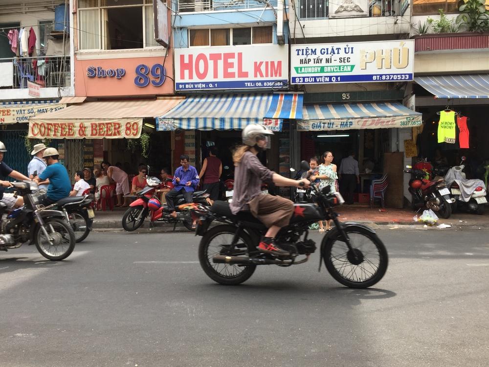 Lots of moto bikes, also very common.