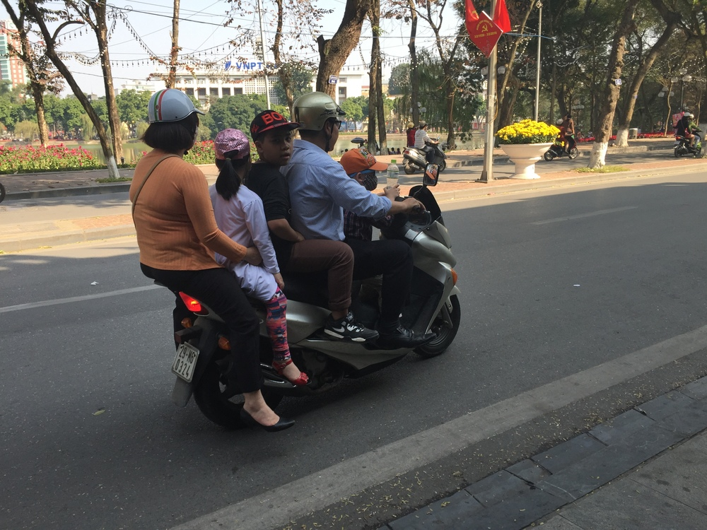 Moto rides are a family affair. Apparently.