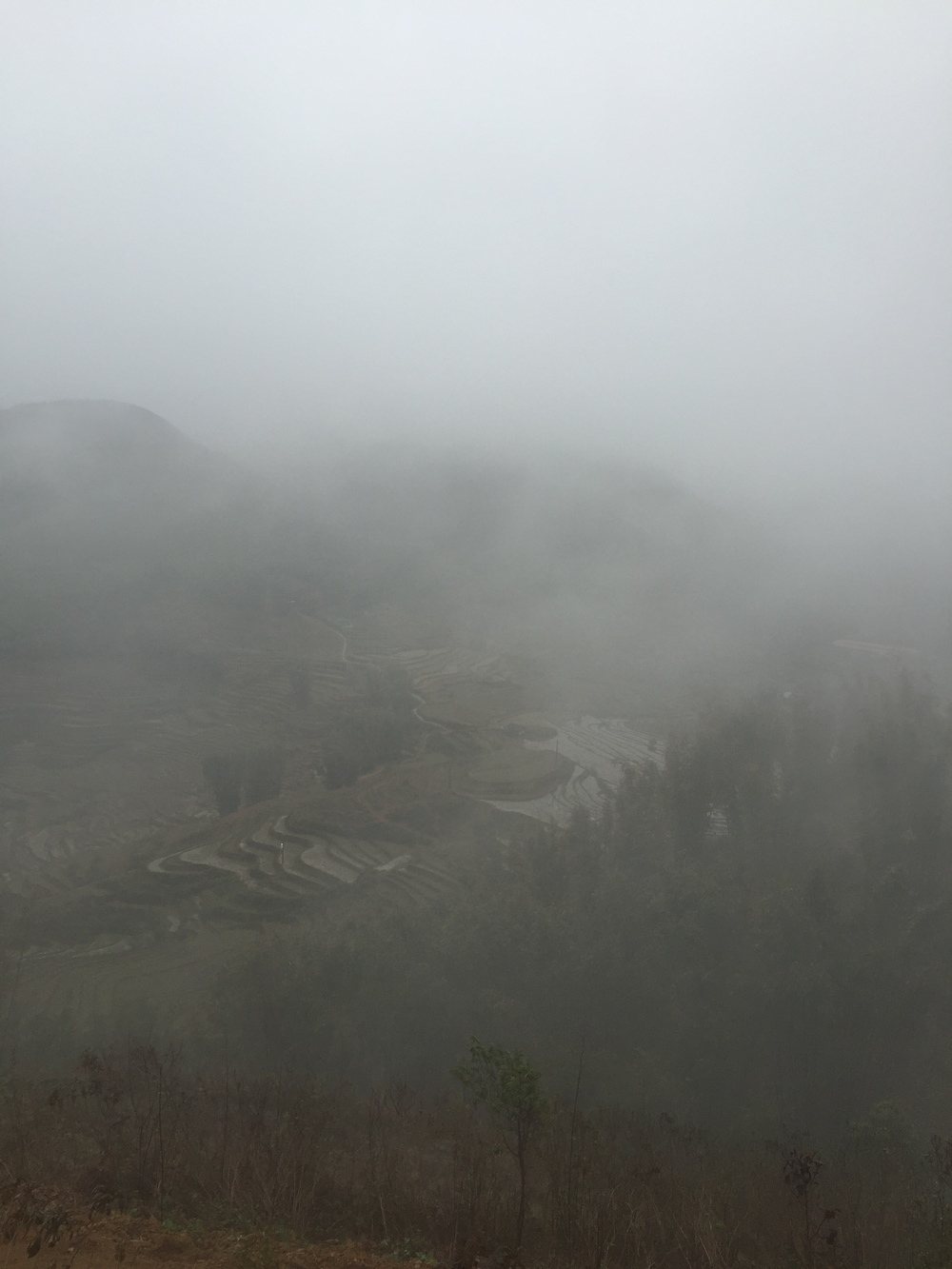 As the mist was lifting a bit so we could see.