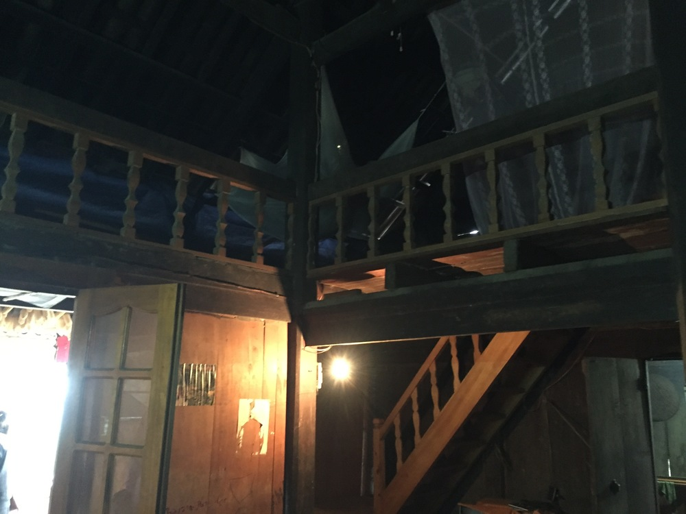 The loft area where we slept