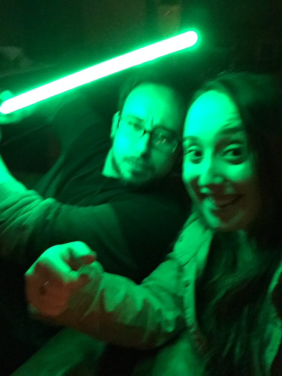 Star Wars night at The Park, our favorite bar/club.