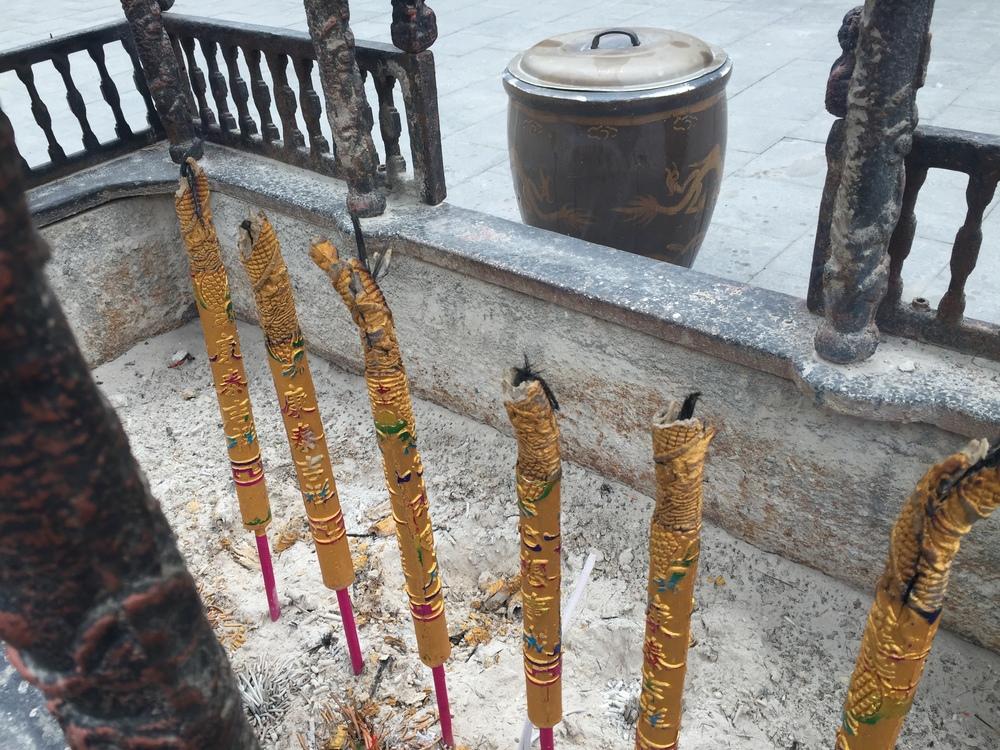 Smokey incense.