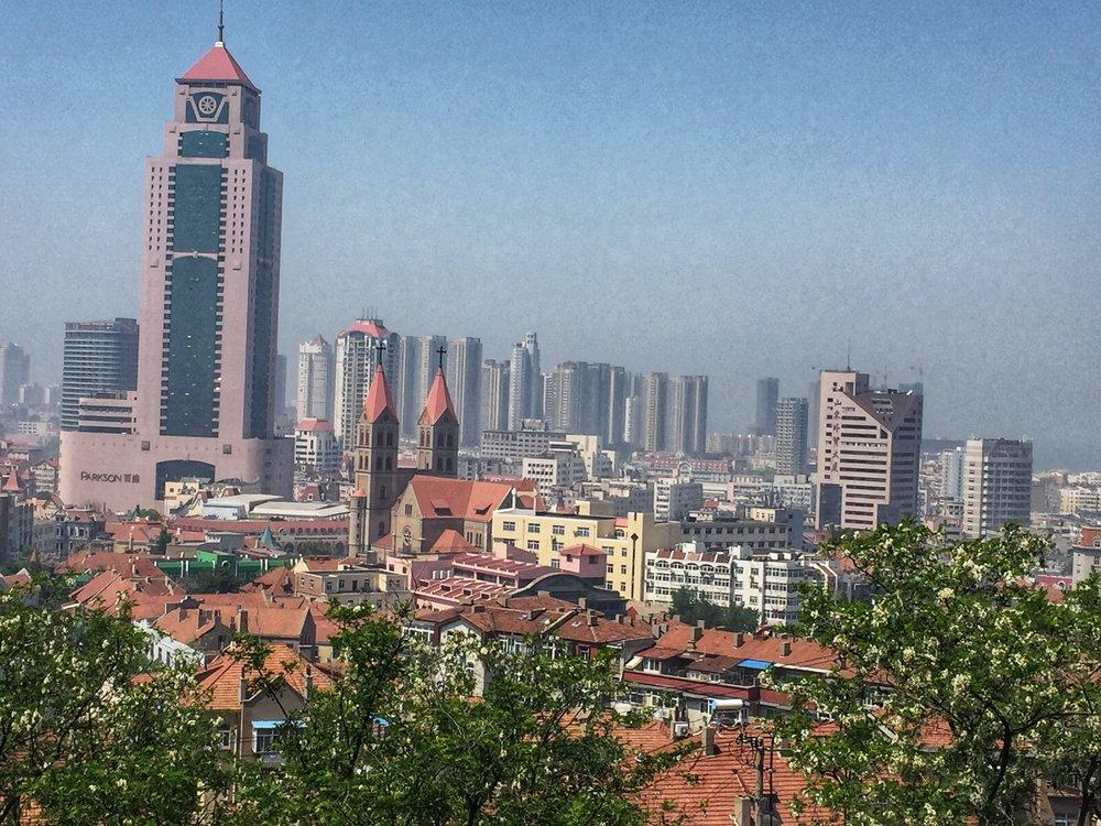A pretty view of Qingdao, far above the chòu dòufu.