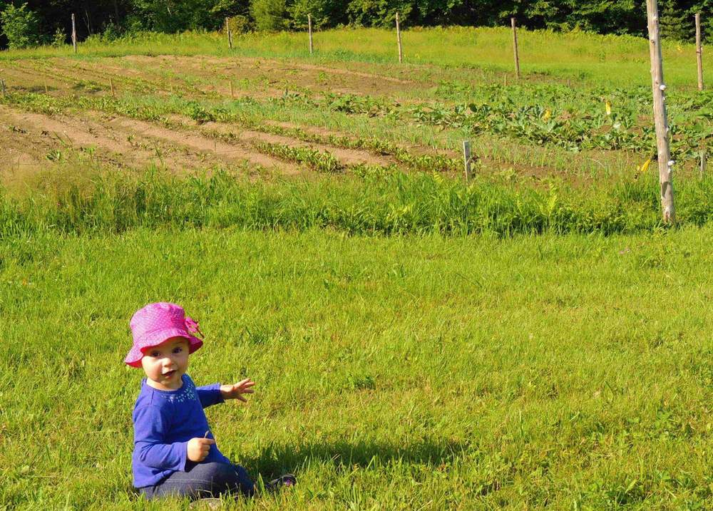 Our youngest farmer!