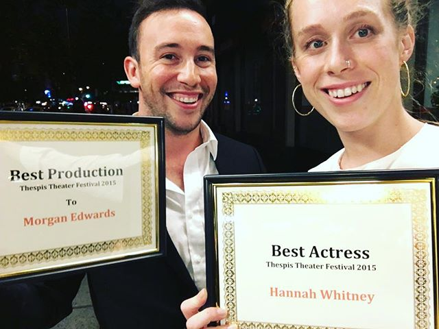 #tbt to that time #thespistheaterfestival gave us all those awards. That was tight AF. @hwhit #lilycasually #offbroadway #glamrock #serialkiller