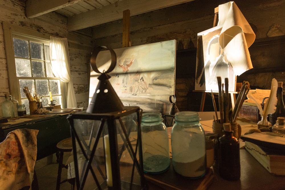 An artist's lair, from  The American Artist: The Life & Times of George Caleb Bingham