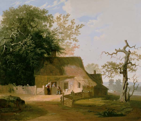 Cottage Scenery, 1845 . Courtesy  Corcoran Gallery of Art .