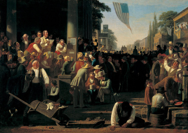 The Verdict of The People, 1854 . Courtesy  St. Louis Museum of Art .