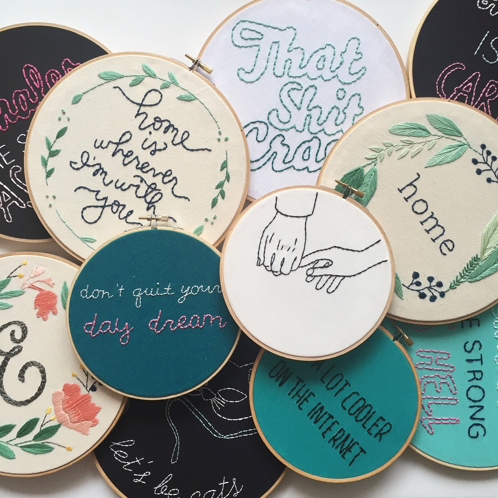 """This feed, run by artist Jennifer Cardenas Riggs, is equal parts comedy and embroidery. Her designs keep me cracking up and coming back for more."""