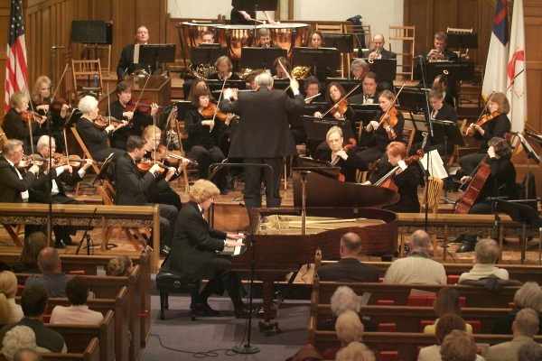 Brahms Concerto No. 1 with the Belleville Philharmonic; February 2005.