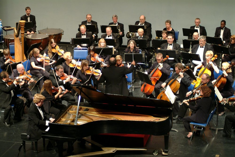 Performing Rachmaninoff Concerto No. 2 with the Alton Symphony; November 2005.