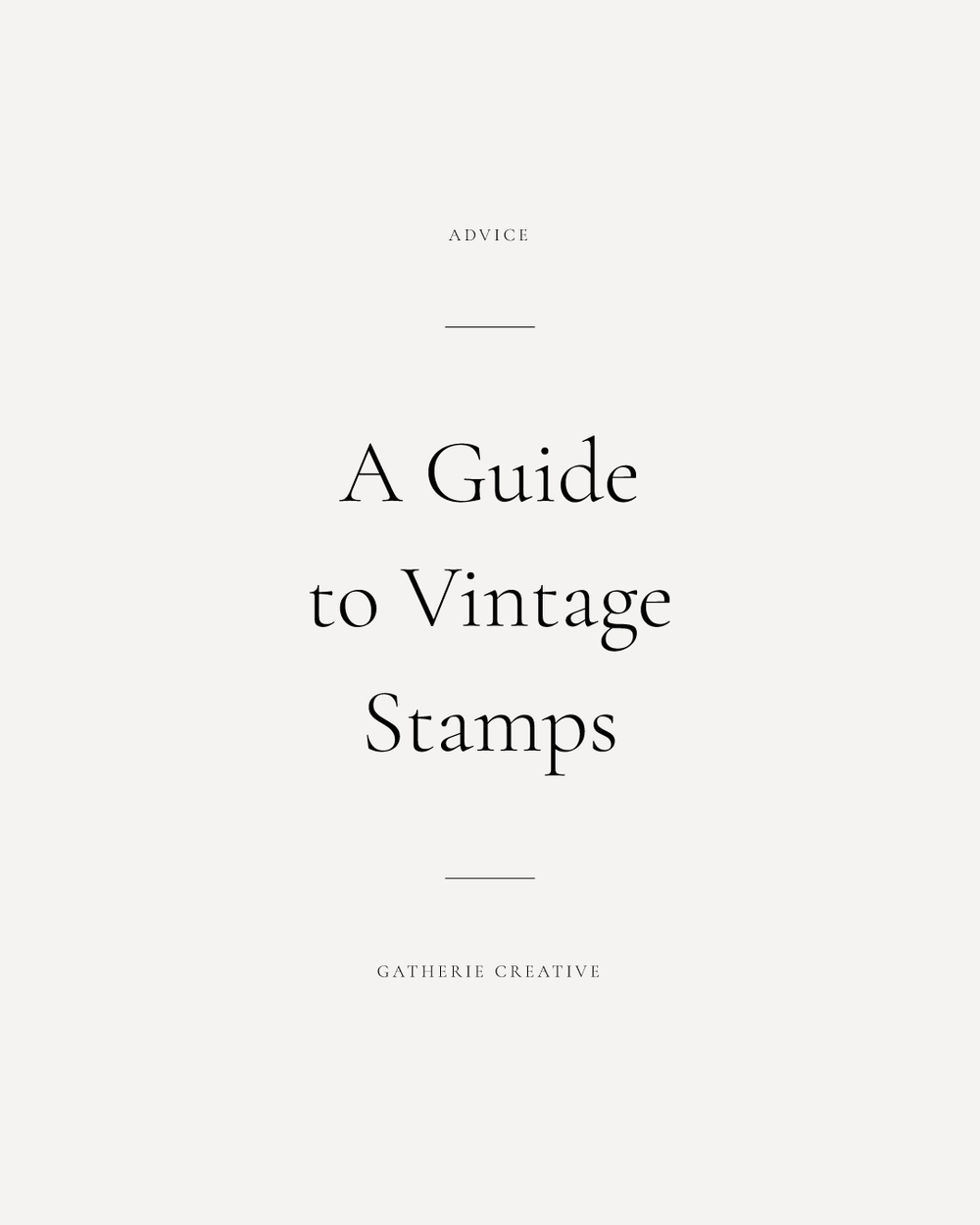 guide to vintage stamps