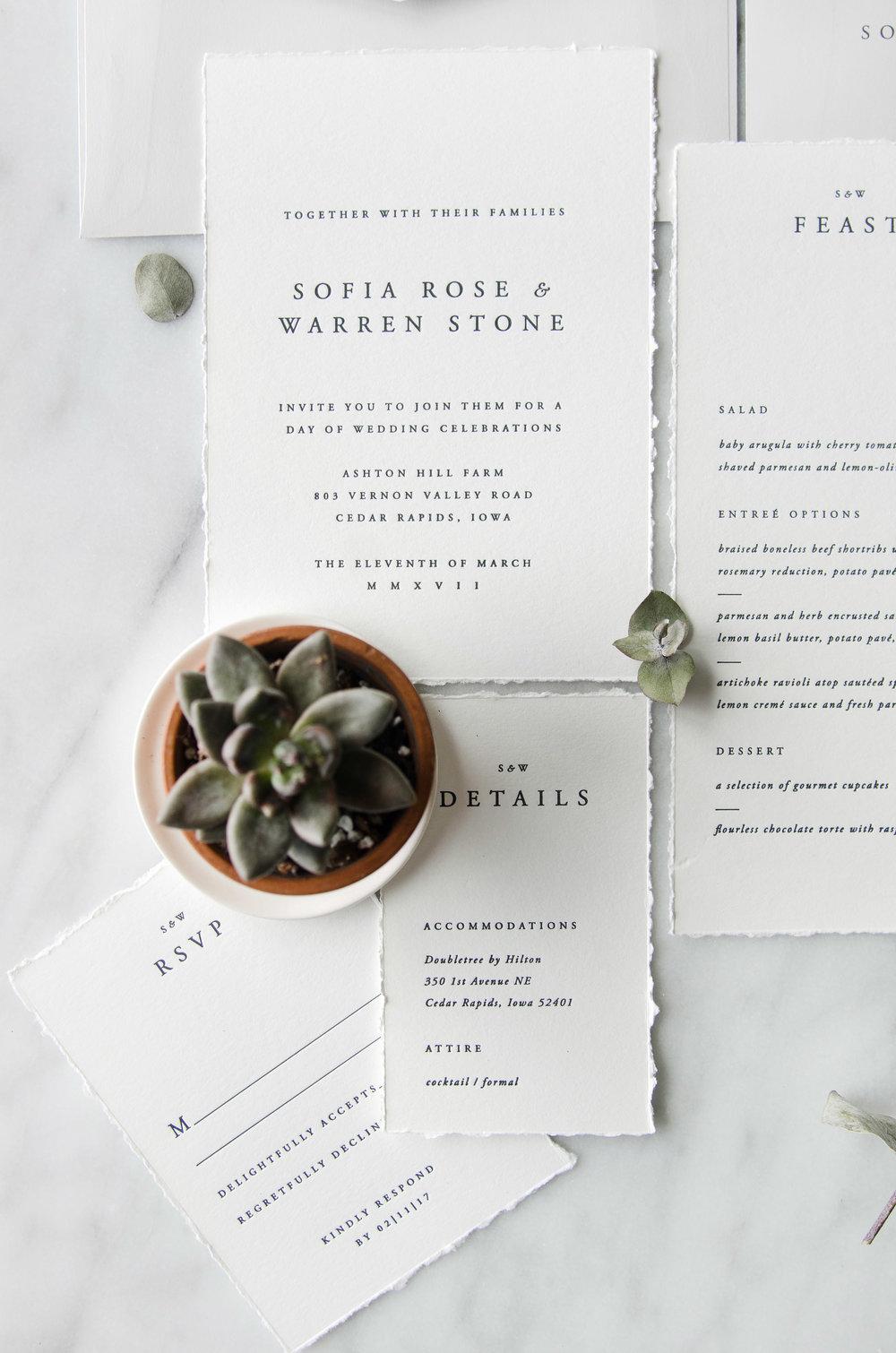 Sofia Semi-Custom Wedding Invitations