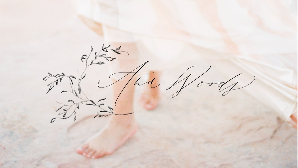 Ana Woods Photography fine art branding calligraphy logo