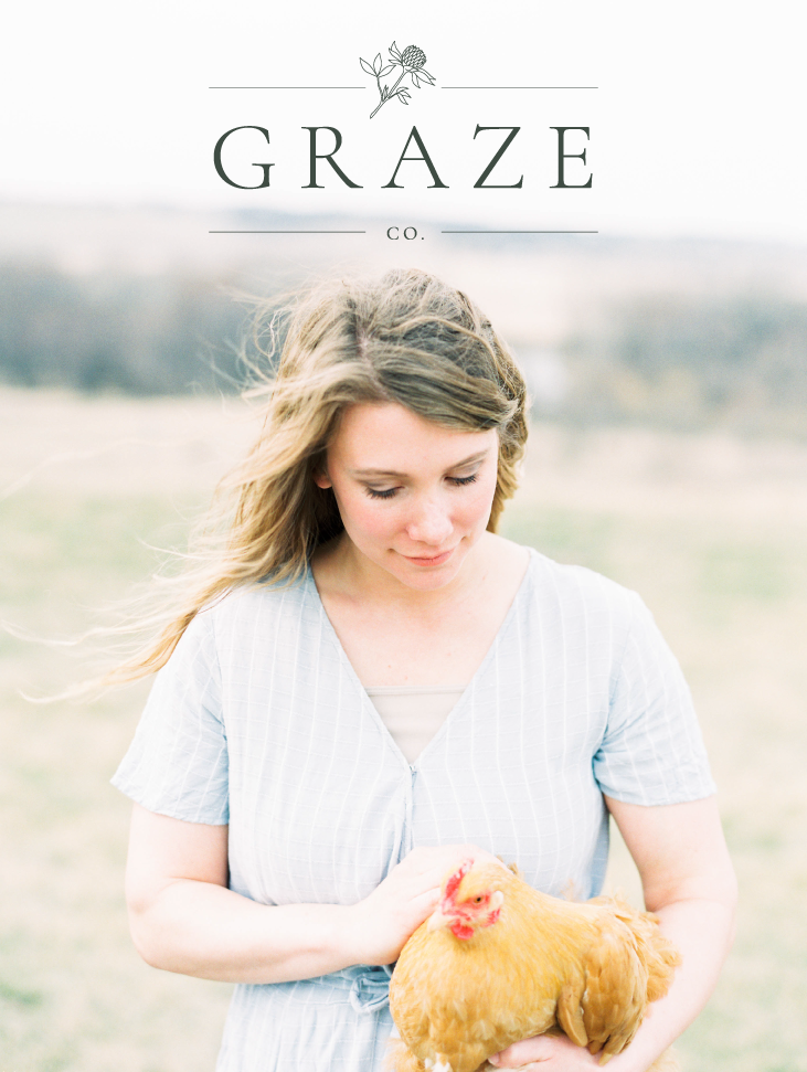 Graze Company organic family farm branding, logo, and website design