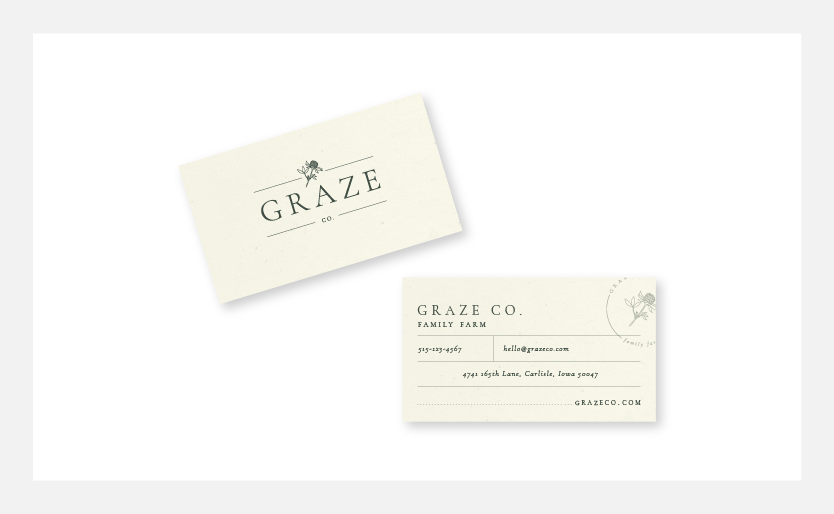 Graze Company Sustainable Farm Business Cards