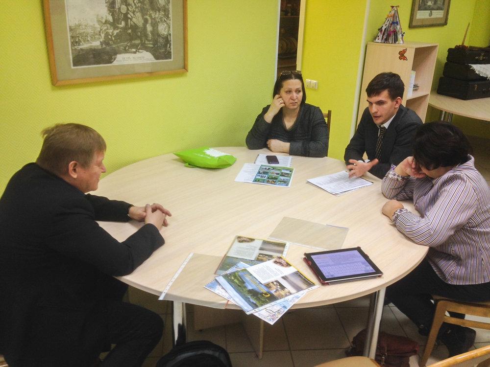 Yhteistyön suunnittelua Pietarissa