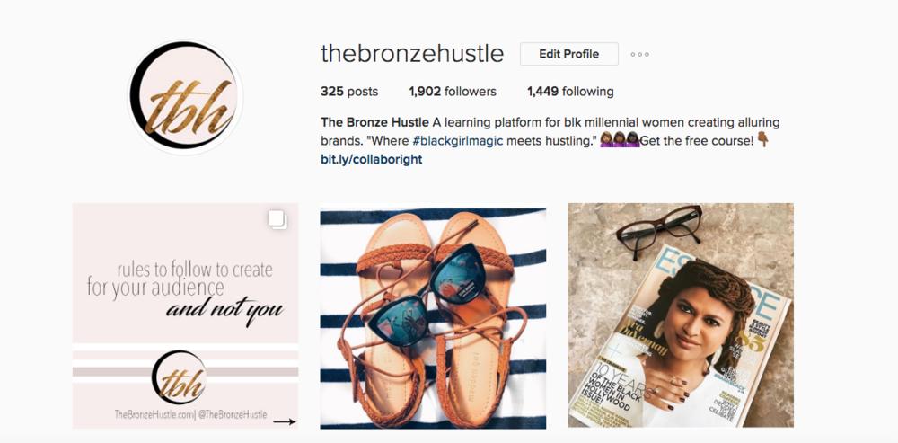 the bronze hustle instagram