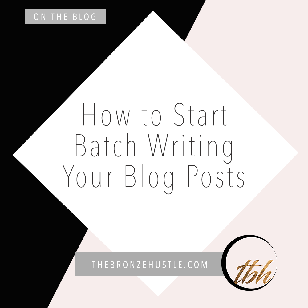 start batch writing your blog posts