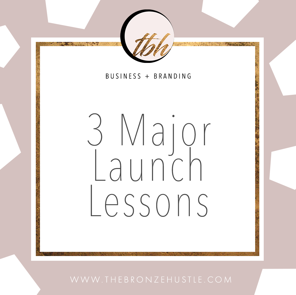 3 major launch lessons