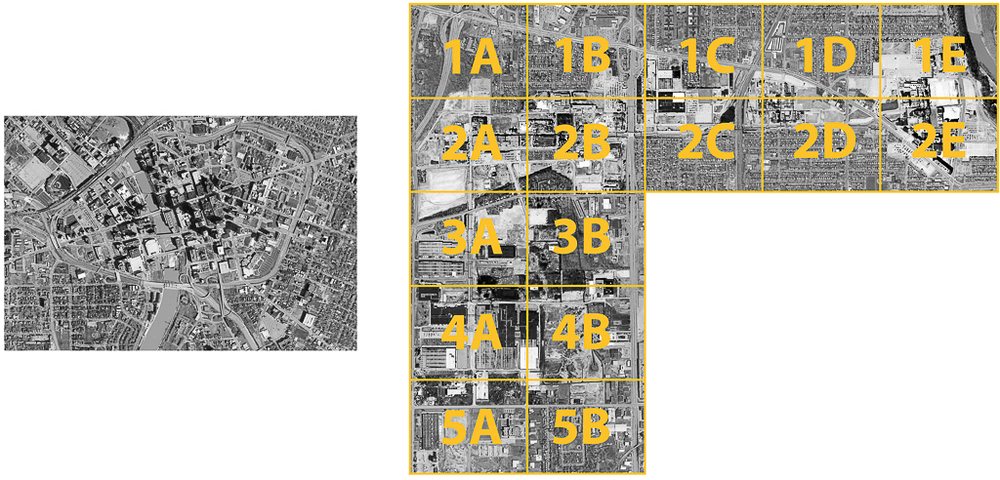 One Pixel = One Square Foot: Scale Comparison, Downtown Rocheste Aerial Views Courtesy of New York State Orthos Online