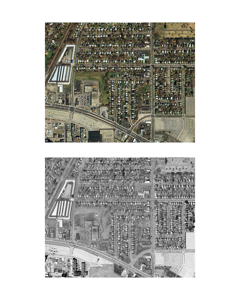 One Pixel = One Square Foot: Kodak Park Section 1D in 2005 (color) Aerial Views Courtesy of New York State Orthos Online