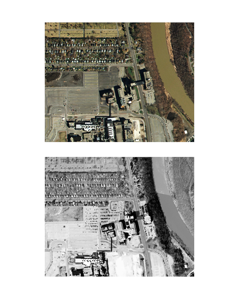 One Pixel = One Square Foot: Kodak Park Section 1E in 2005 (color) Aerial Views Courtesy of New York State Orthos Online
