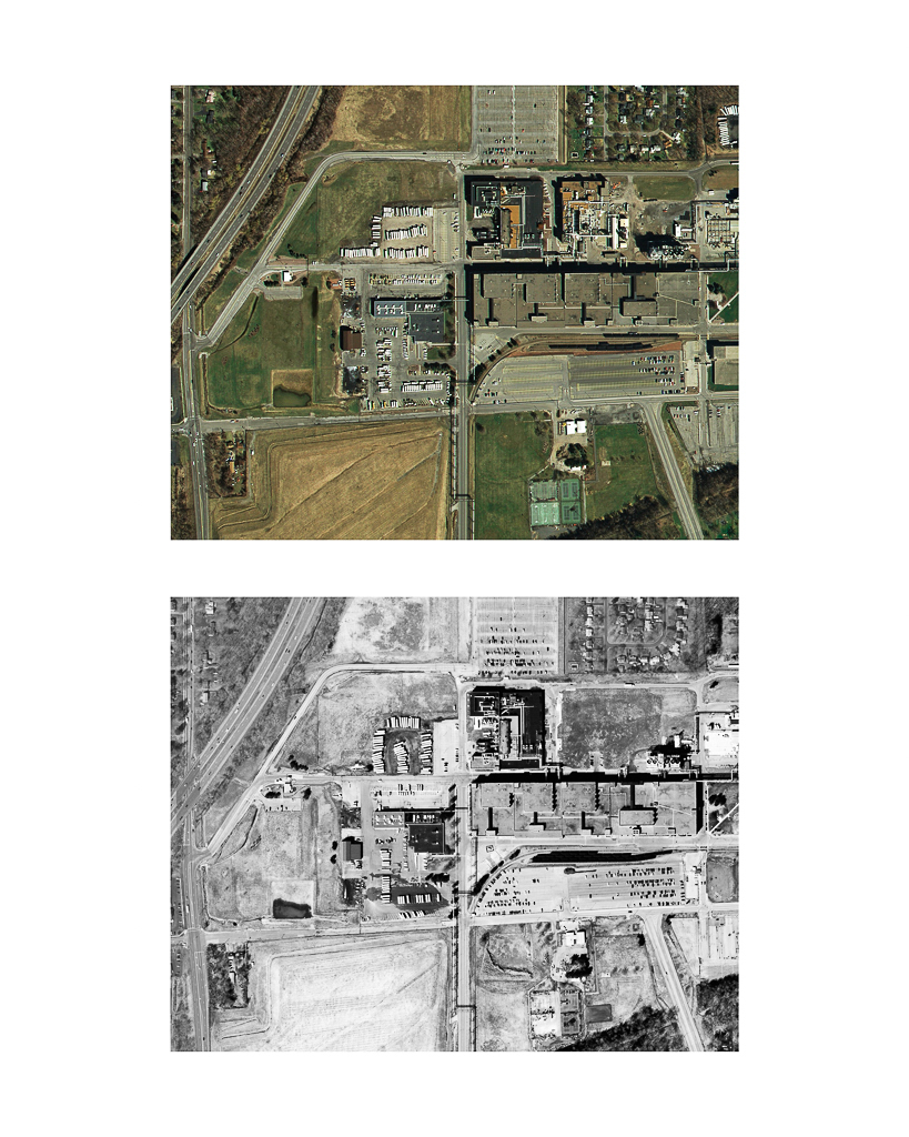 One Pixel = One Square Foot: Kodak Park Section 2A in 2005 (color) Aerial Views Courtesy of New York State Orthos Online