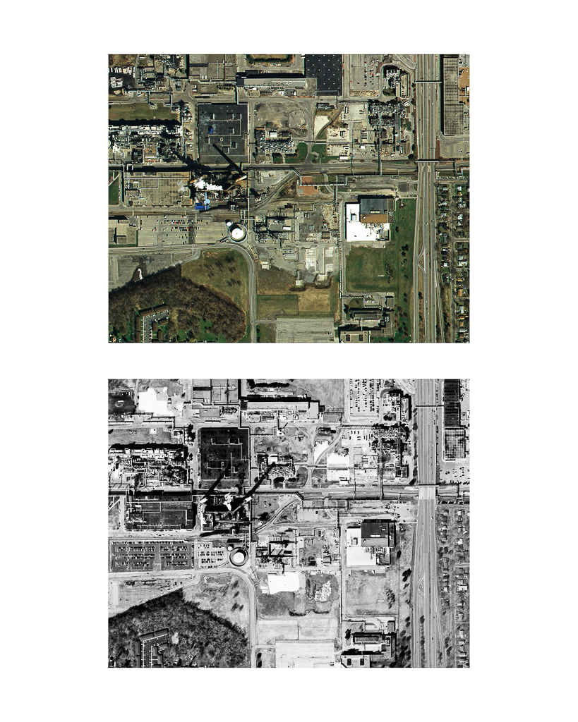 One Pixel = One Square Foot: Kodak Park Section 2B in 2005 (color) Aerial Views Courtesy of New York State Orthos Online