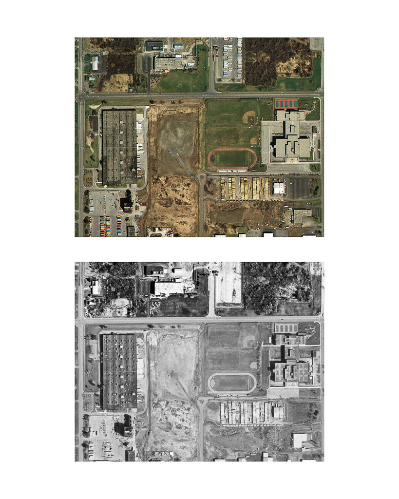 One Pixel = One Square Foot: Kodak Park Section 5A in 2005 (color) Aerial Views Courtesy of New York State Orthos Online