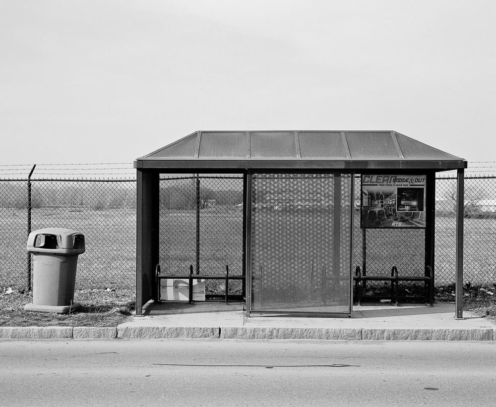 Oscar Palacio, Bus Stop, Kodak Park Area, Rochester, NY, 2011