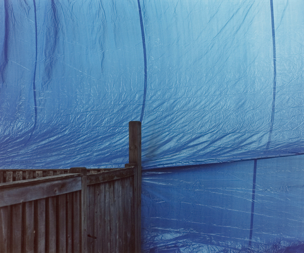Blue Tarp and Fence, 2003