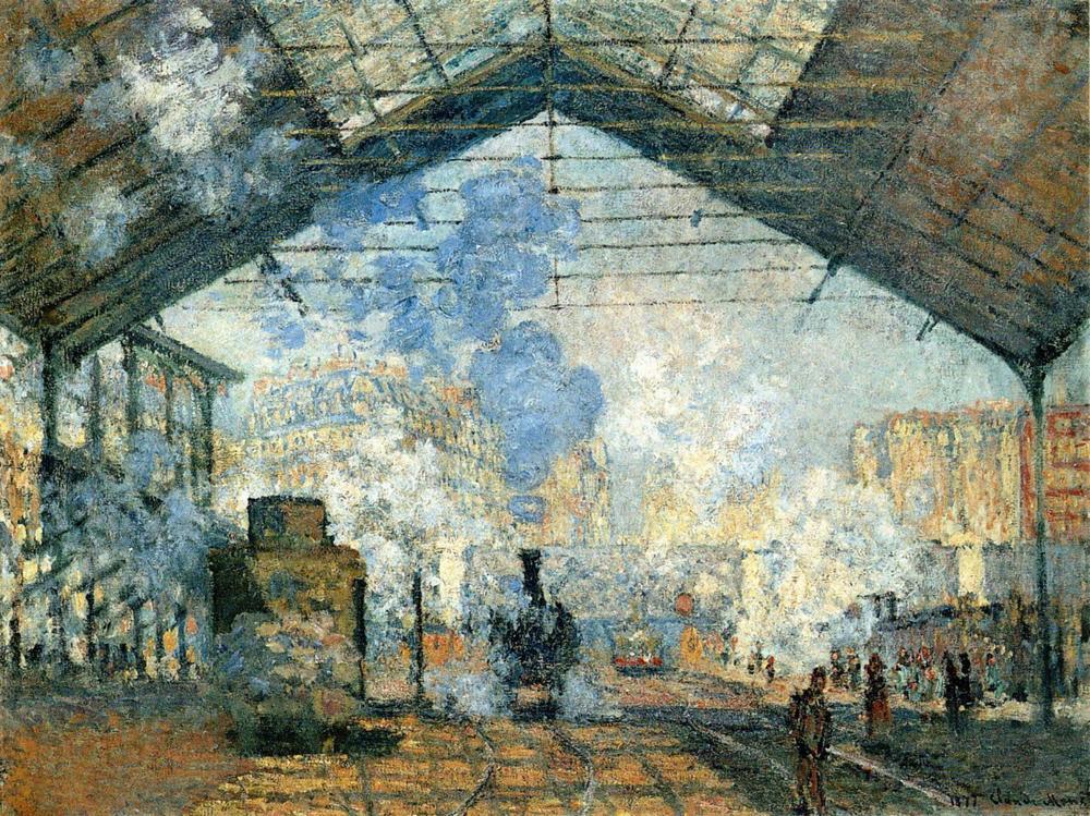 Steam trains at Gare St. Lazare in Paris