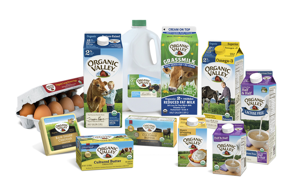 Organic Valley   Organic Valley produces award-winning organic milk, cheese, butter, soy milk, produce, healthy snacks, and more.