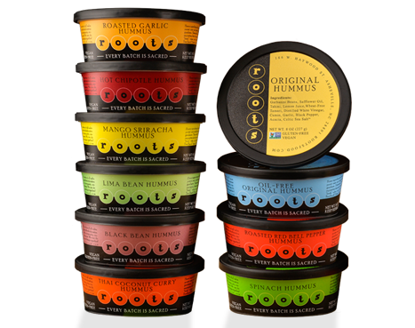 "Roots Hummus Roots products are as high quality as they come, and we tout our status as ""The Microbrew of Hummus"" up and down the courts. At Roots, Every Batch Is Sacred."