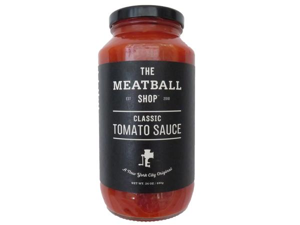 The Meatball Shop   Since The Meatball Shop opened in the Lower East Side in 2010, our Classic Tomato Sauce has been our best seller. We keep it simple with a high-quality, eight-ingredient recipe. Now when you can't get to The Meatball Shop, you can bring a little bit of the Shop into your home.