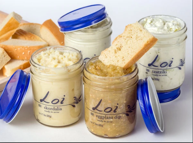 Loi   Whether you enjoy it with pita, in a sandwich, or spooning it right out of the jar, Loi Dips will be your healthiest addiction yet!