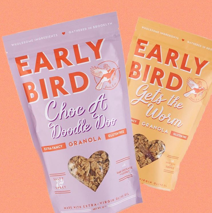 Early Bird Foods   Early Bird Foods & Co. dishes out wholesome old-fashioned goodness by baking their granola in tiny batches and using the three most integral ingredients at a cook's disposal: olive oil, salt and love.