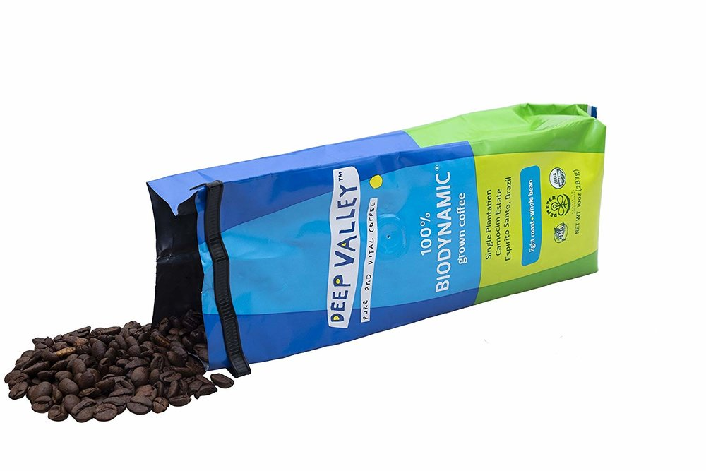 Deep Valley   This is deeply organic coffee, from a single estate in  Espirito Santo, Brazil . Grown in adherence to the farming methods and practices of  Demeter Biodynamic certification program . Conscious and regenerative is the agricultural rule