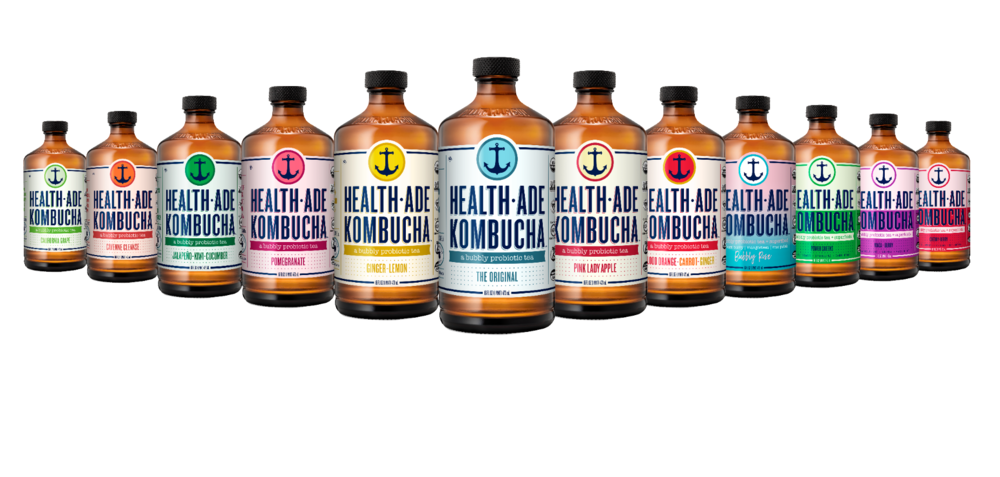 Health-Ade Kombucha   A bubbly probiotic drink that has been enjoyed for thousands of years to help restore vitality and promote healing.