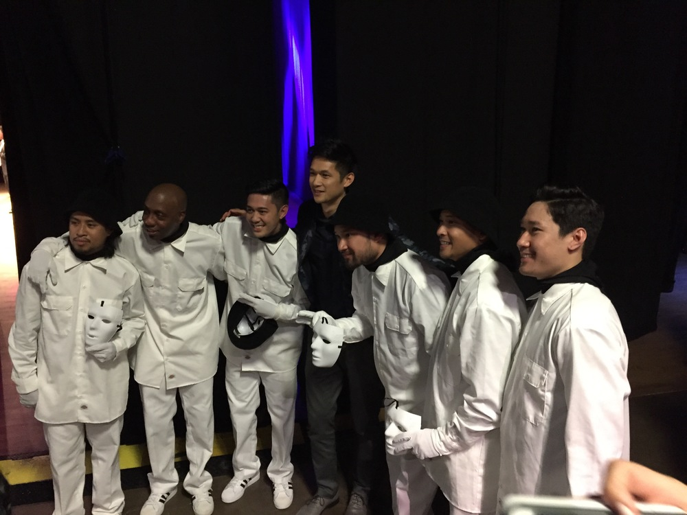 Jabbawockeez and Harry Shum Jr.