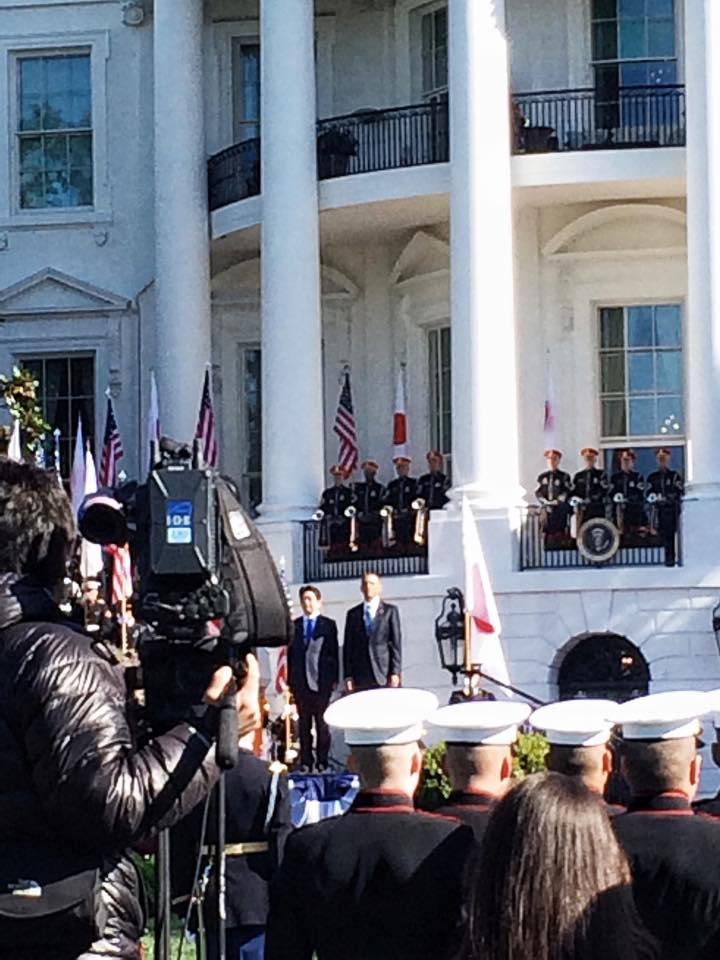 POTUS and Prime Minister Abe.