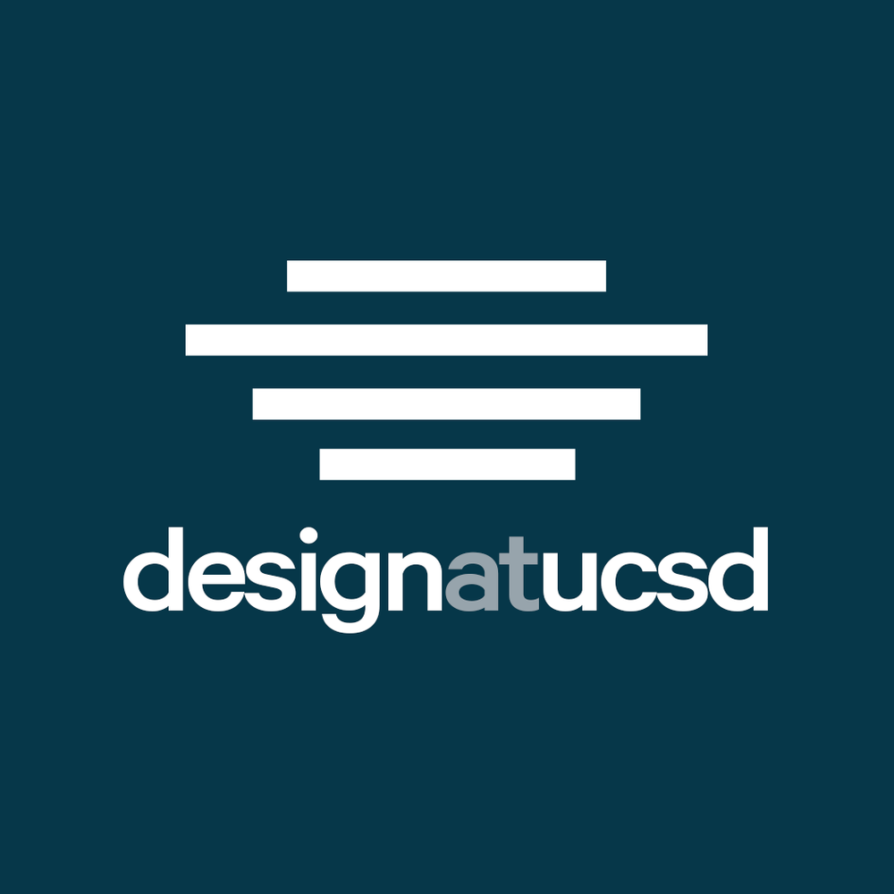 The current logo for Design at UCSD.